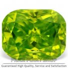 0.29 ctw, 4.18 x 3.31 mm, Lime Color, VVS1 Clarity, Cushion Cut Natural Diamonds