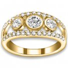 0.63 ctw 14k YG Natural I-J Color, VS - SI Clarity, Accent Diamonds Engagement Rings