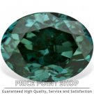 0.33 ctw, 4.57 x 3.47 mm, Teal Blue Color, SI1 Clarity, Oval Cut Natural Diamonds