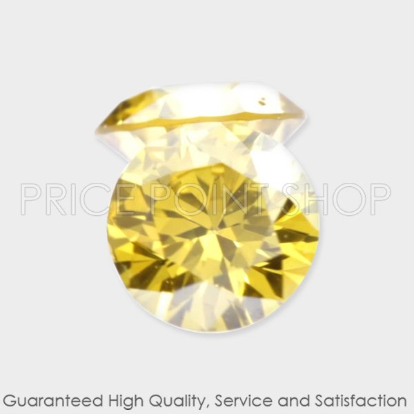0.17 ctw, 2.70 mm, Canary Yellow, SI1 Clarity, Round Cut Matching Diamonds Pair
