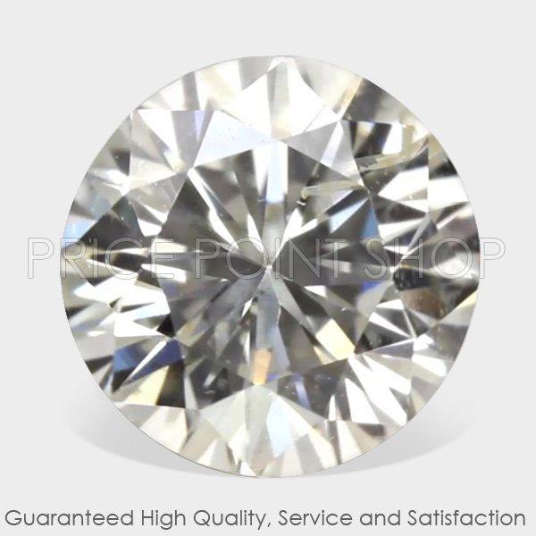 0.50 ctw, 4.91 mm, G White Color, SI-1 Clarity, Round Brilliant Natural Diamonds