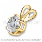 1.00 ctw Yellow Gold 6 Prong Basket I-J Color VS - SI Clarity Certified Solitaire Diamonds Pendants