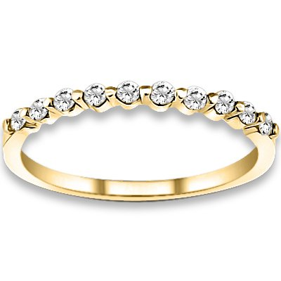 0.20 ctw 14k Yellow Gold H-I Color SI2-SI3 Clarity Natural Round Diamonds Wedding Bands