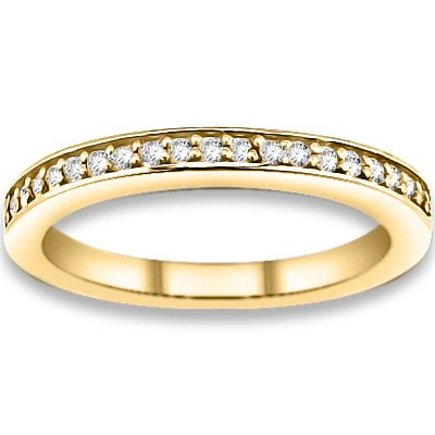 0.23 ctw 14k Yellow Gold H-I Color SI2-SI3 Clarity Natural Round Diamonds Wedding Bands