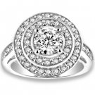 1.01 ctw 14k WG Natural G-H Color, I1 Clarity, Accent Diamonds Engagement Rings