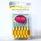 TePe TE-PE INTERDENTAL BRUSH YELLOW ISO SIZE 4, 0.7MM X 6 BRUSHES PER PACK