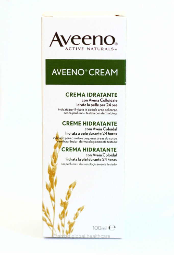 AVEENO CREAM FOR ECZEMA DRY SENSITIVE SKIN 100ML WITH NATURAL COLLOIDAL OATMEAL