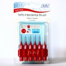 TePe TE-PE INTERDENTAL BRUSH RED ISO SIZE 2, 0.5MM X 6 BRUSHES PER PACK