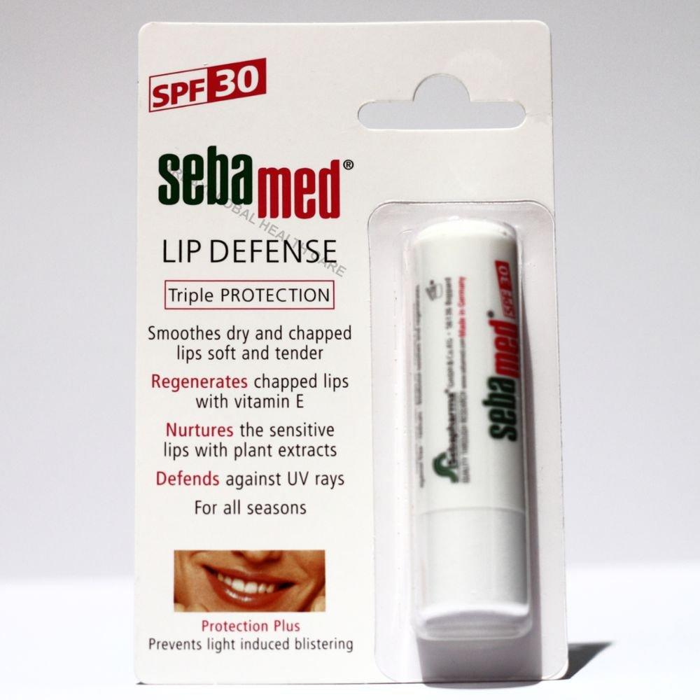 SEBAMED LIP DEFENSE SPF 30 UV FILTERS, VITAMIN E, SMOOTHES DRY & CHAPPED LIPS