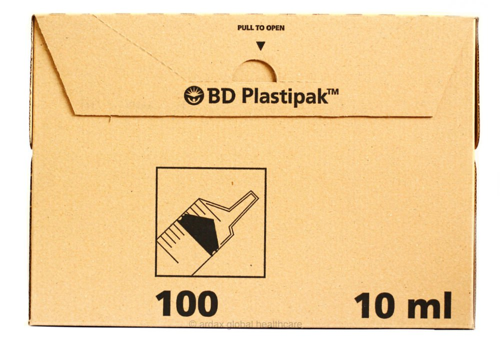 BD PLASTIPAK SYRINGE 10ML LUER LATEX FREE 1 BOX OF 100!