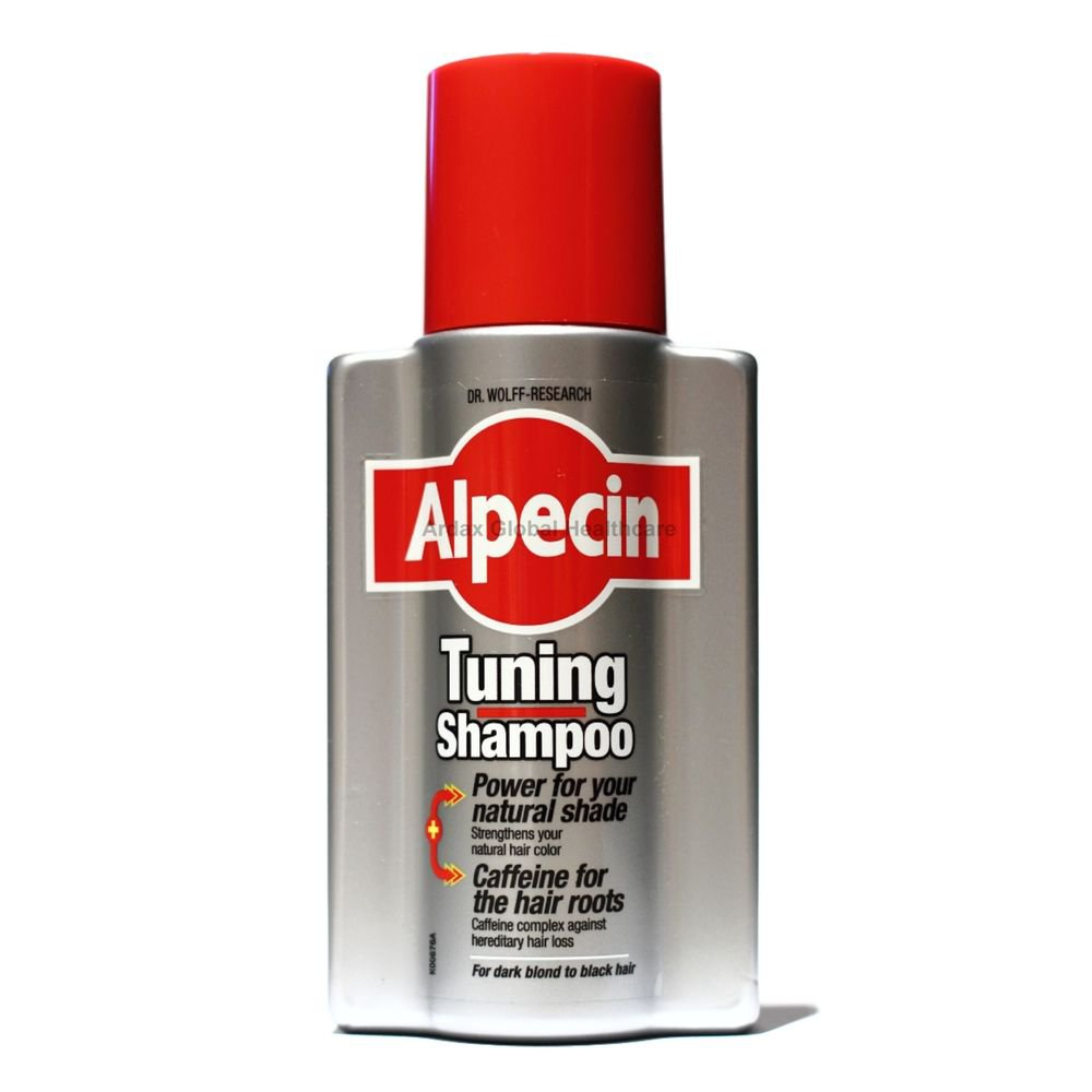 ALPECIN TUNING SHAMPOO STRENGTHENS HAIR COLOUR, CAFFEINE FOR HAIR LOSS 200ML