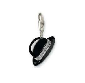 Black Hat Charm Pendant Dangle fits European Charm Bracelet Story Living Locket Lobster Clasp