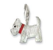 Westie Dog Charm Pendant Dangle fits European Charm Bracelet Story Locket Lobster Clasp