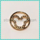 Gold Mickey Window Plate 22mm fits Large 30mm Living Locket