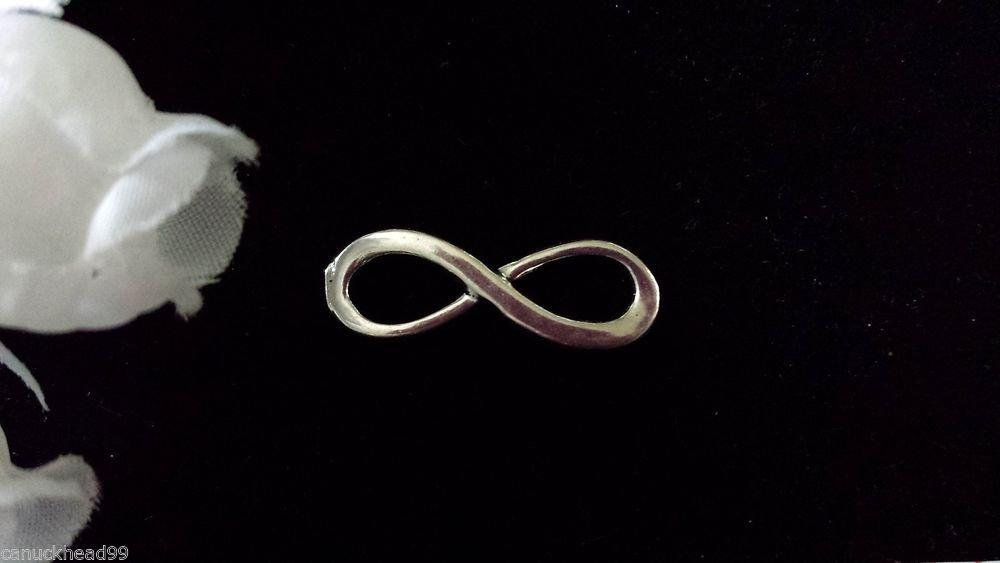 12pcs Tibetan Silver Metal Alloy Charm Charms Pendant Infinity Symbol 24x8mm