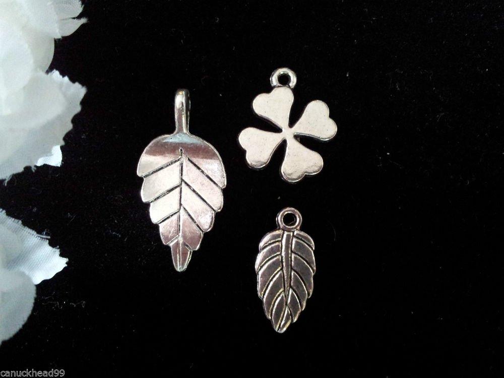 12pcs Tibetan Silver Metal Alloy Charm Charms Pendant Mixed Leaf