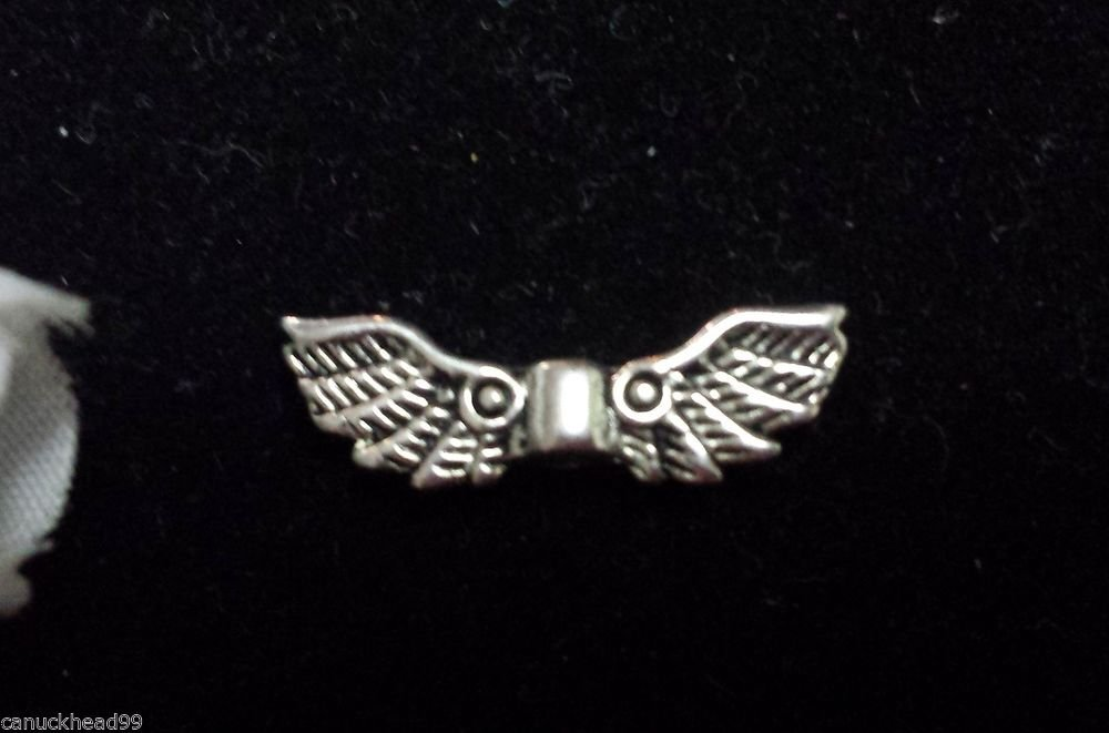 12pcs Tibetan Silver Alloy Charm Charms Spacer Angel Wings Wing Beads Canada