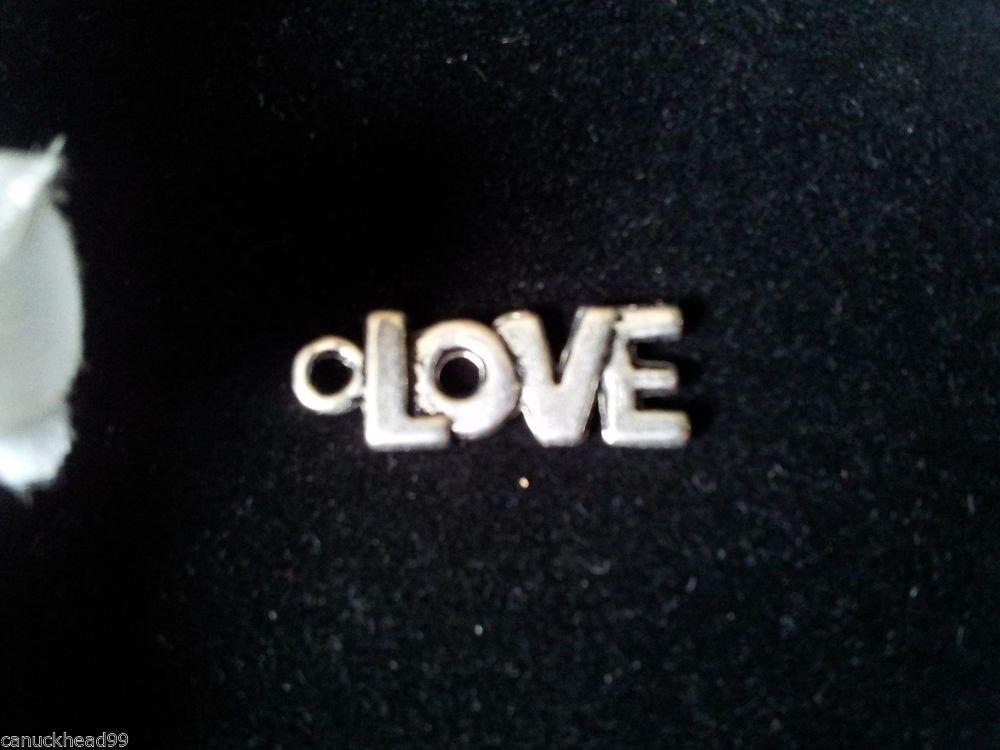 12pcs Tibetan Silver Metal Alloy Charm Charms Pendant Word LOVE 21x9mm