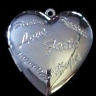 Silver Plated Heart Locket 45mmX40mm 2