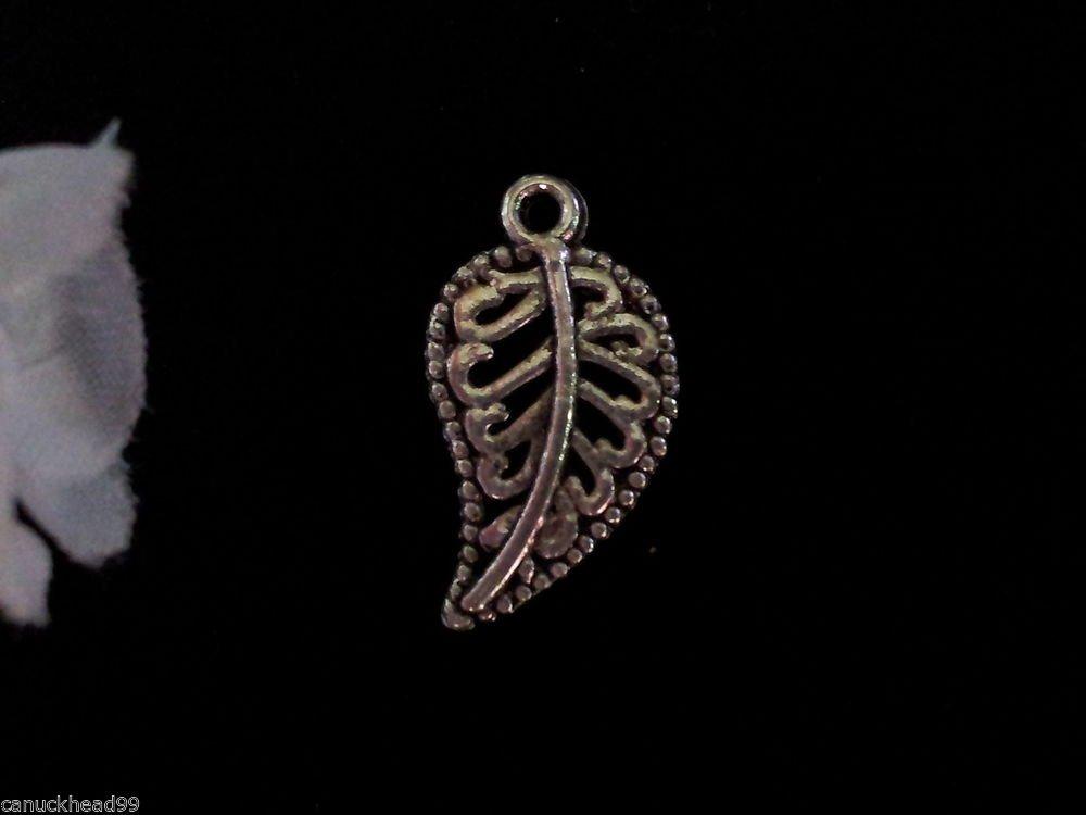 8pcs Tibetan Silver Metal Alloy Charm Charms Filgree Leaf Canada