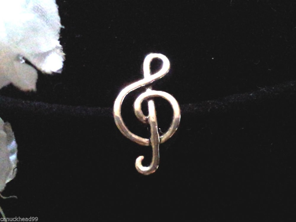 1pc Tibetan Silver Treble Clef Music Note Spacer Large Hole European Bead Charm