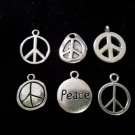 12pcs Tibetan Silver Metal Alloy Charm Charms Pendant Peace Signs Mix #4