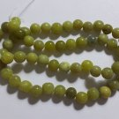 6MM OLIVE NEW ``JADE`` SERPENTINE ROUND GEMSTONE LOOSE BEADS STRAND 16``