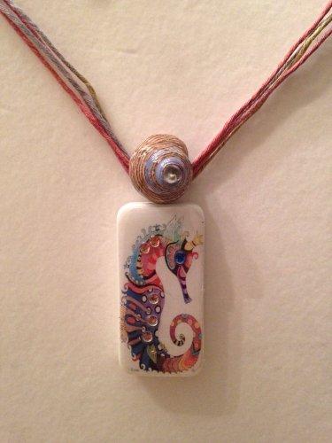 Seahorse Domino Necklace
