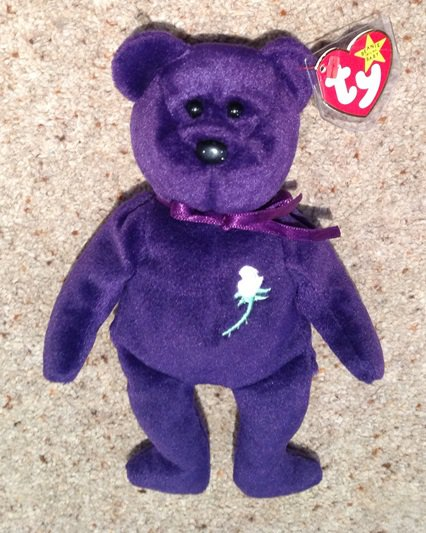 First Edition Ty Princess Diana Beanie Baby 1997.