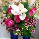 Bridal natural stemmed bouquet