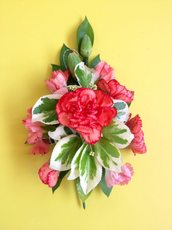 Ladies pink Carnation pin corsage