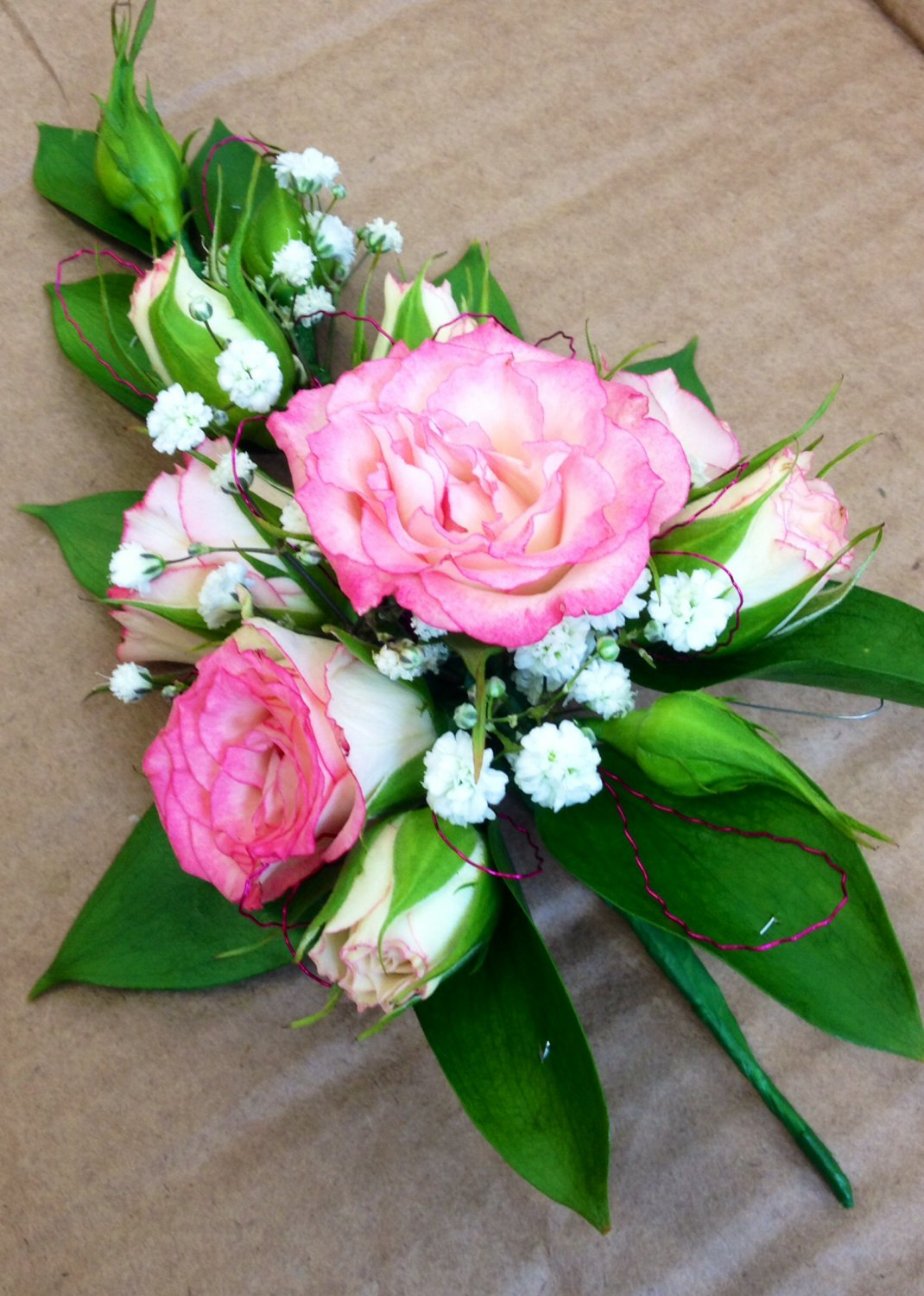 Ladies Rose pin corsage