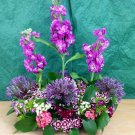 Long wild flower table arrangement