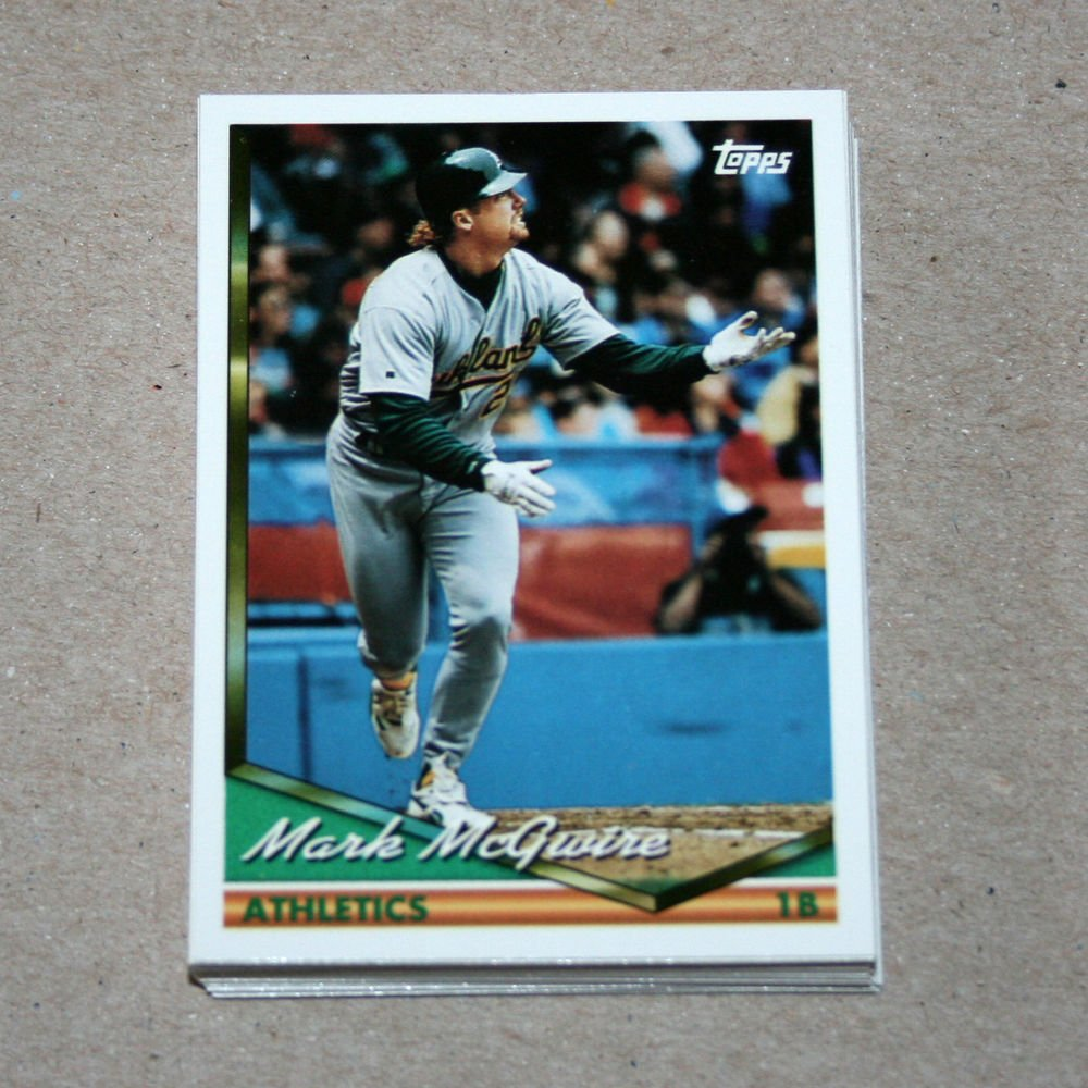 1994 TOPPS BASEBALL - Oakland Athletics Team Set (Series 1 & 2)