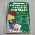 Scarne's Complete Guide to Gambling by John Scarne (1974, Hardcover)