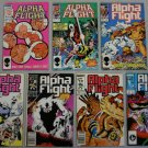 Lot of (7) MARVEL COMICS: Alpha Flight (#12 / #17 / #23 / #36 / #45 / #49 / #50)