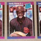 "Lot of (3) 1989 DONRUSS BASEBALL - Sandy Alomar Jr ""Rated Rookie"" Baseball Cards"