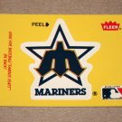 1986 FLEER BASEBALL - Seattle Mariners Team Logo Yellow Sticker Card