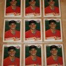 Lot of (9) 1990 FLEER BASEBALL - Ben McDonald Cards