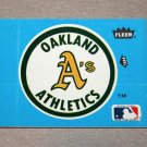 1985 FLEER BASEBALL - Oakland A's Team Logo Blue Sticker Card