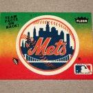1984 FLEER BASEBALL - New York Mets Team Logo Sticker Card