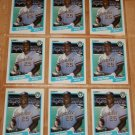 Lot of (9) 1990 FLEER BASEBALL - Greg Vaughn Cards