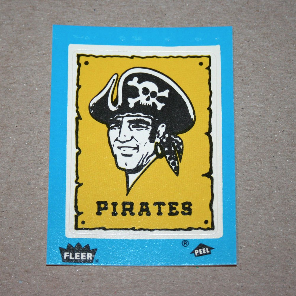 1985 FLEER BASEBALL - Pittsburgh Pirates Team Logo Blue Sticker Card
