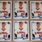 Lot of (6) 1990 FLEER BASEBALL - Jim Abbott Cards
