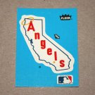 1985 FLEER BASEBALL - California Angels Team Logo Blue Sticker Card