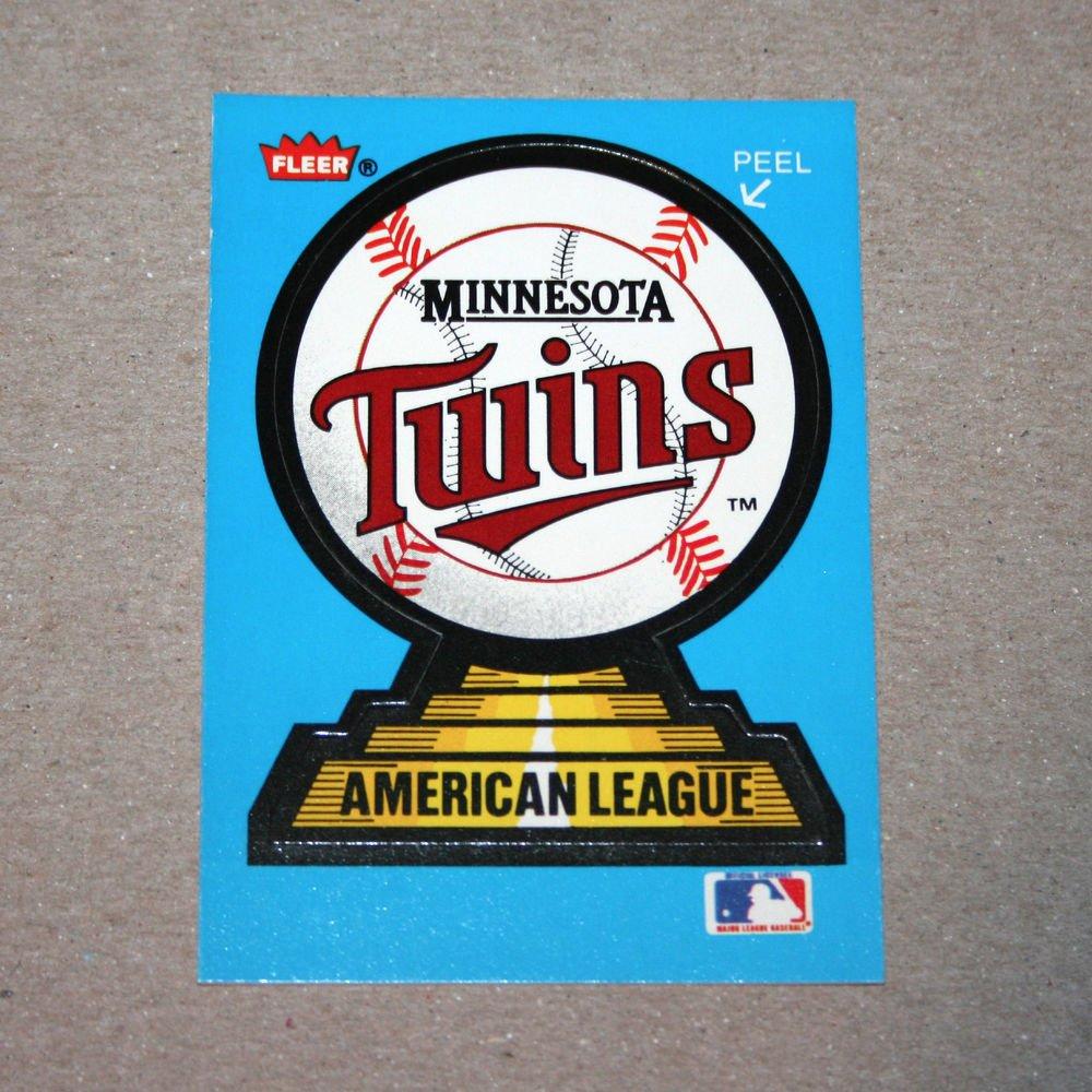 1987 FLEER BASEBALL - Minnesota Twins Team Logo Sticker Card