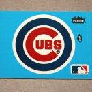1985 FLEER BASEBALL - Chicago Cubs Team Logo Blue Sticker Card