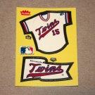 1985 FLEER BASEBALL - Minnesota Twins Team Jersey & Flag Yellow Sticker Card