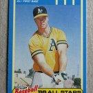 "1988 FLEER BASEBALL ""'88 All Stars"" - Mark McGwire (#25)"