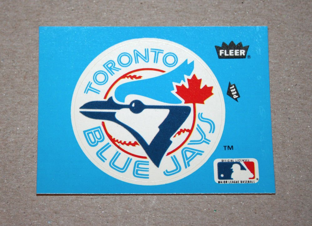 1985 FLEER BASEBALL - Toronto Blue Jays Team Logo Blue Sticker Card